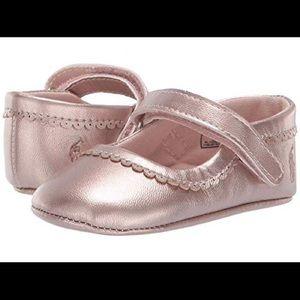 Ralph Lauren rose metallic infant shoes